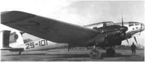 El Heinkel-111del Ejército del Aire español, sido donado desinteresadamente por Alemania para reconocimiento meteorológico.
