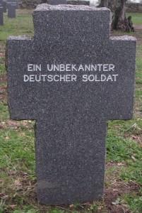 Cruz perteneciente a un soldado desconocido.
