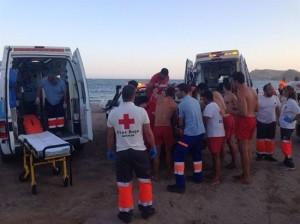 Rescatadores Acuáticos de Cruz Roja Española.