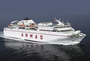 El ferry Volcán de Timanfaya de la Naviera Armas. / Foto: www.navieraarmas.com