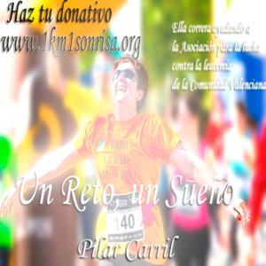 Pilar Carril pretende recorrer 10 km. / Foto: www.1km1sonrisa.org