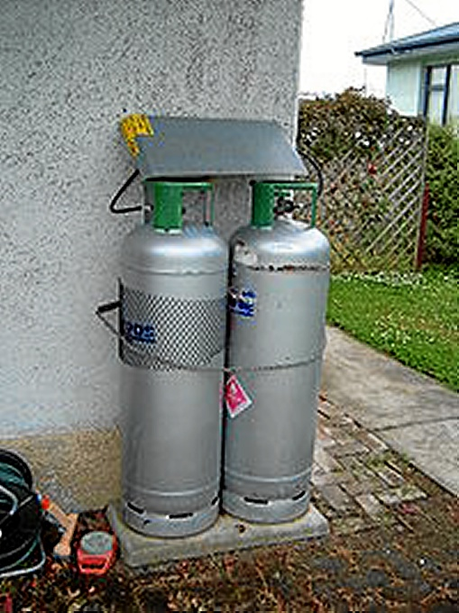 Cilindros de GLP doméstico. / Foto: es.wikipedia.org
