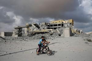 Ayuda humanitaria a Gaza.