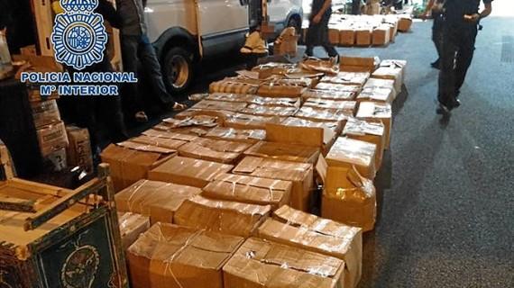 Un total de 42 detenidos y cinco toneladas de hachís incautadas en un golpe a una red de narcos