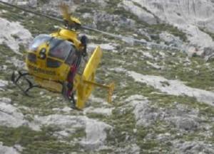 Un helicóptero del SEPA.
