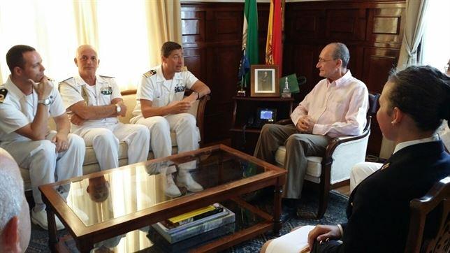 Reunión con los militares italianos