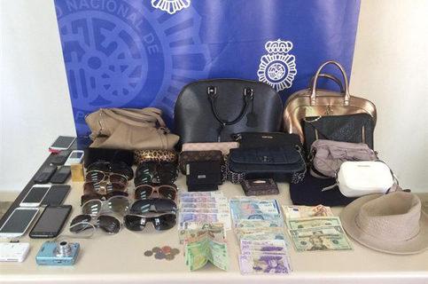 Detenidas siete personas en Málaga tras desarticular un grupo especializado en hurtos
