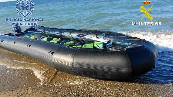 Incautadas 2,8 toneladas de hachís y detenidos cinco narcotraficantes en Marbella