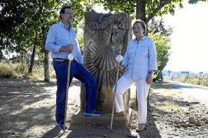 Rajoy y Merkel recorrieron varios kilómetros del Camino de Santiago. / Foto: www.lamoncloa.gob.es