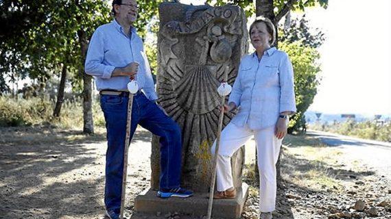 Merkel alaba la recuperación de España durante su visita a Santiago