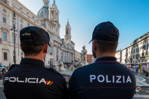 Policía Nacional en Roma