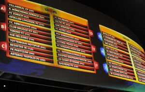 Panel con los grupos y equipos.