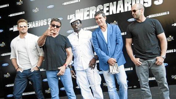 'Los Mercenarios' de Stallone recalan en Marbella en la presentación nacional de su tercera película