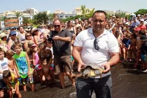 Las tortugas han sido devueltas a su hábitat natural. / Foto: Jesús Mora Romero