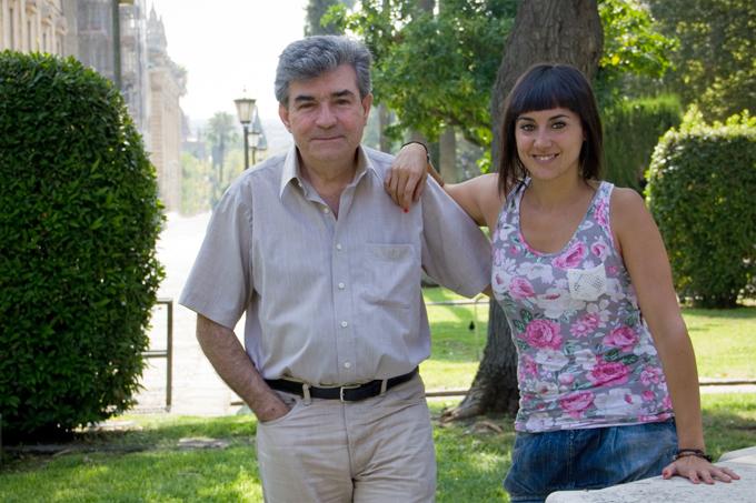 Los investigadores Leandro del Moral y Natalia Limones.