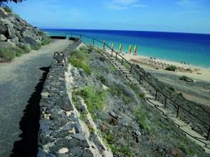 Vistas de la playa en el Camino de Fuerteventura, en Morro Jable. / Foto: magrama.gob.es