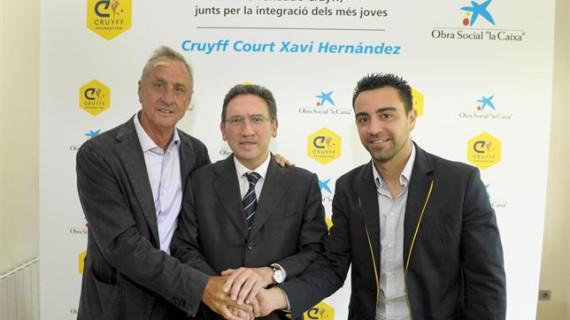 Xavi Hernández y la Fundación Cruyff crearán un campo para niños desfavorecidos en Terrassa