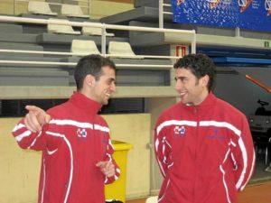 Ortiz y Rivilla en la Selección de Castilla La Mancha de Balonmano.
