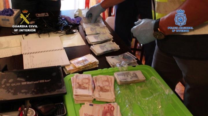 Desarticulado en Alicante y Murcia un grupo organizado que distribuía cocaína de Colombia