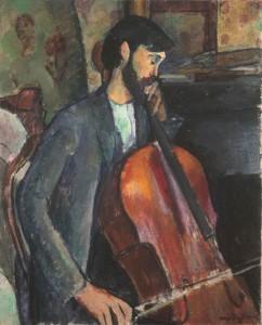 Amedeo Modigliani (1884-1920). El violonchelista 1909.