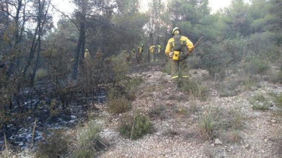 Los efectivos logran controlar un incendio en Almansa