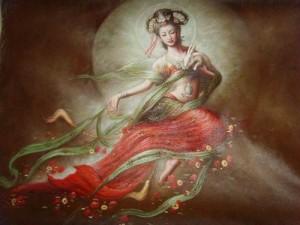 Representación de Chang´e. / 嫦娥图画作品