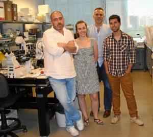 Los firmantes del CNIC del estudio: Miguel Manzanares, Teresa Rayón, José Luis de la Pompa y Sergio Menchero.