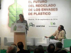 Presentación de los datos sobre reciclaje. / Foto: Europa Press
