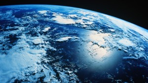 La tierra vista desde el espacio. /