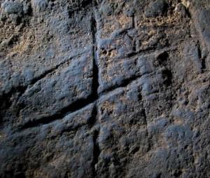 Grabado encontrado en el interior de la cueva. / Foto: Stuart Finlayson.
