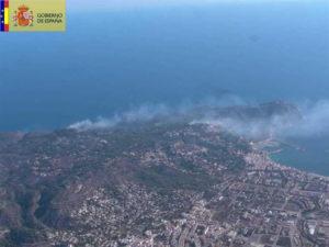 Parque Natural del Montgó tras el incendio. / Foto: Gobierno de España.