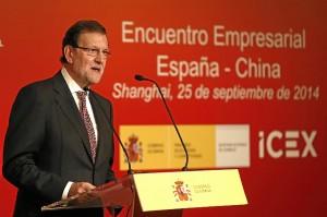 El presidente del Gobierno, durante su intervención en Shangai. / Foto: Mocloa