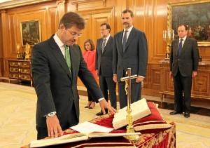 Juramento de Catalá como nuevo ministro de Justicia. / Foto: Casa Real / Borja Fotógrafos.