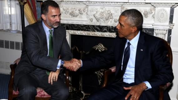 """El primer encuentro entre Felipe VI y Barack Obama transcurre con entendimiento y """"buena sintonía"""""""