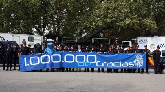 La Policía Nacional, primer cuerpo de seguridad del mundo en alcanzar el millón de seguidores en Twitter