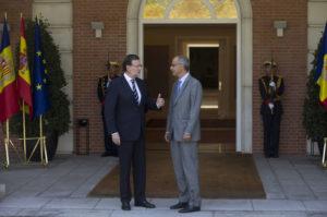 El presidente del Gobierno, Mariano Rajoy, recibe en La Moncloa al jefe de Gobierno del Principado de Andorra, Antoni Martí.