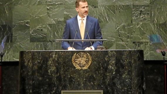 El Rey Felipe VI muestra el compromiso de España con los valores de la ONU