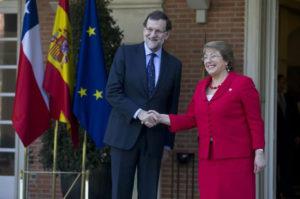 El presidente del Gobierno con la presidenta de Chile. / Foto: Moncloa.