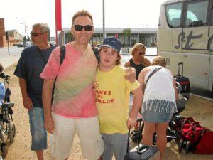 En un campamento con personas con discapacidad en Lérida.