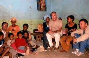 Con el misionero Ángel Olarán en Etiopía.
