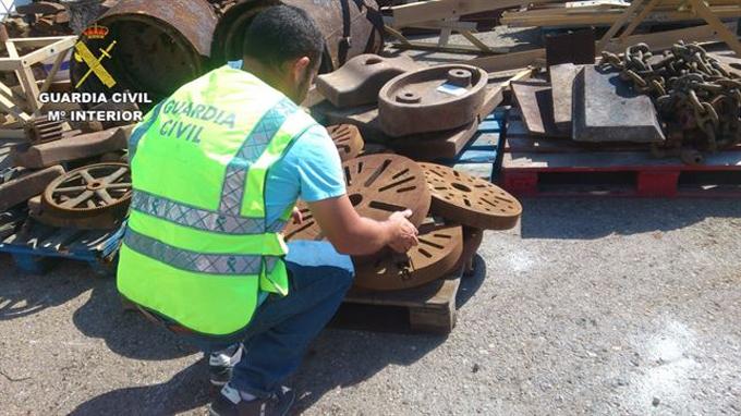 La Guardia Civil recupera en La Unión nueve toneladas de material metálico robado declarado como BIC
