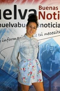 Rocío Garrido en una de las sedes de la cadena Buenas Noticias. / Foto: Jessica Berrio.