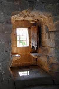 Interior del Castillo de Granadilla.