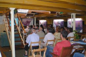 Actividades culturales en el interior del Hidria Segundo.