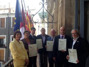 Las 'Ciudades Alfonsíes' firman un documento para fomentar actividades conjuntas.