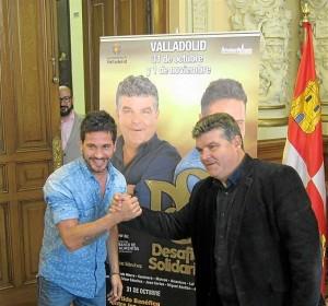David de María y Onésimo en la presentación del evento. / Foto: Europa Press