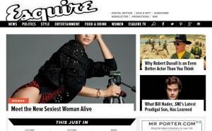 Portada de la edición digital de Esquire.