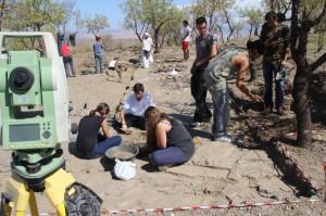 Excavación arqueológica en Lanteira.