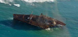 Los vecinos de Fuerteventura expoliaron los restos del SS América. / Foto: wikipedia.