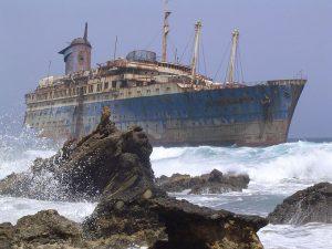 La proa del barco en 2004. / Foto: wikipedia.